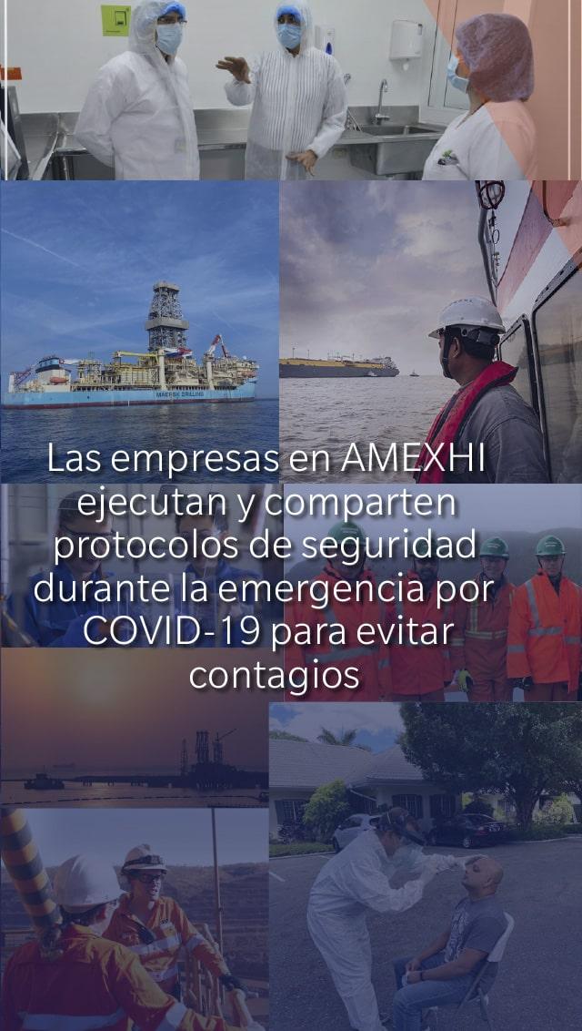 Las empresas en AMEXHI ejecutan y comparten protocolos de seguridad durante la emergencia por COVID-19 para evitar contagios.